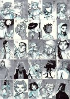 Wheel of Time Sketch Cards by AdamMasterman