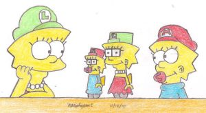Mini Lisa and Maggie Toys by MarioSimpson1
