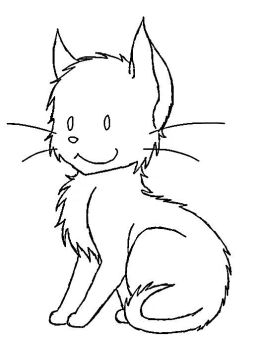 Cat Lineart by EtchsAdopts