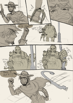 RoadHog is a good body guard by SeniorPotato