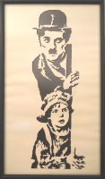 Chaplin papercut by kadifecraft