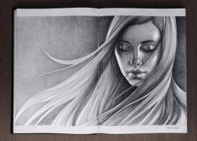 Girl. Sketchbook by sashajoe