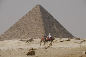 Giza Pyramid and Camels by AndySerrano