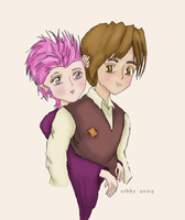 Lupin + Tonks by InFairVerona
