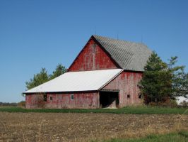Faded Red Barn by devianb