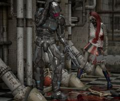 Zombies and soldiers by hiram67