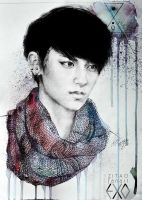 zitao winter fanart by e11ie