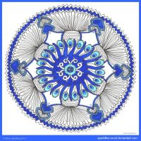 Les Yeux Turquoises Mandala by Quaddles-Roost