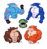 Street Sharks color by CaseyLJones