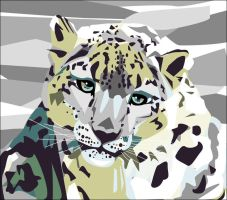 Colorful Snow Leopard by EmmaEsme