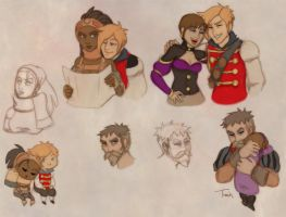 Fable 3 Sketches by BeagleTsuin