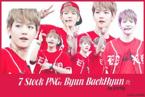 [PNGset8] BaekHyun in Red by exotic-siro