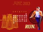 Doctor Who (Eleven) June 2013 Calendar by flamingotown