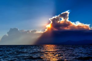 A Setting Sun at Tahoe with King Fire Smoke by sellsworth