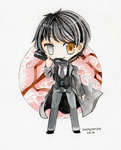 [ watercolor chibi ] c: Seishirou Sakurazuka by sleepypandie