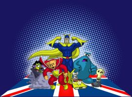 The UK League of Extraordinary Cartoon Characters by Q-Dog2099