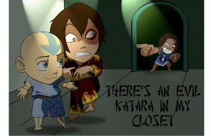 Evil Katara in my closet... by StormAkima