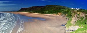 Llangennith beach pano by dan-da