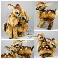 Twin Spotted Fawns - Finally Finished! by RikerCreatures