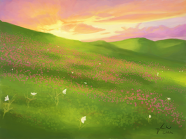 Flower Field by BunnyFroofroo