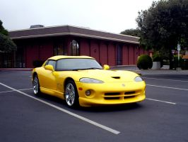 yellow Dodge Viper V10 badass by Partywave