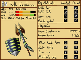 Kelbi Gunlance design by DarkmaneTheWerewolf