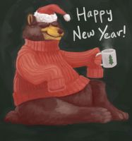 New Year Bear by calonarang