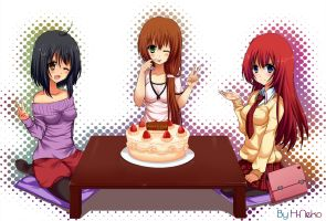 Commision Happy B-day by H--neko