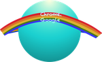 My first Rainbow Google Chrome Icon. by Flutterflyraptor