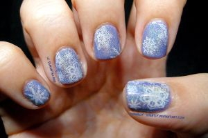 Christmas 2012: Snowflake's in a Holo mist by Cowboy-Slightly