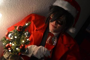 Hellsing Its Christmas time by Whitewolfje