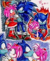 Werehog and Amy by Mitzy-Chan