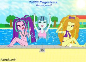 Dazzlings at the swimming pool (25k Pageviews) by Robukun