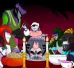 Dinner Time by Crescent-moon-demon