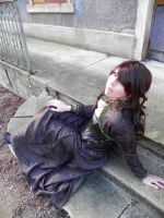 Steam brocade dress by Fayry-Cosplay