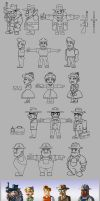 50ties Game Characters by andretapol