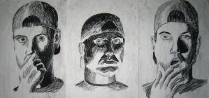 Charcoal Portrait Series by ThePat