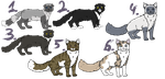 Leftover Adoptables-OPEN- by SecretStrideKennels