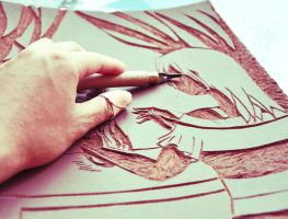 Dangerous art : Lino printing by Shi-yiu