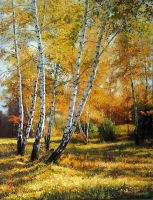 Autumn Birches by AmsterdamArtGallery