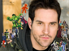 Travis Willingham character collage by EmSeeSquared