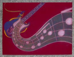 Base Guitar in Color by Geak-of-Nature