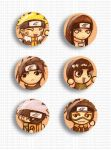 Naruto Buttons by ahnline