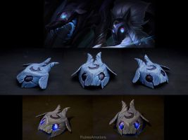 KINDRED - League Of Legends (Wolf's Mask) by RubeeAmadare