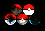MMD Pokeballs and Beach balls by AncientKyuubi