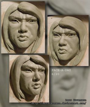 FACE-A-DAY 6/20 sculpture by Monstermann