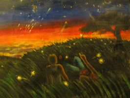 Fireflies detail 1 by LilithVallin