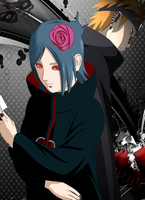 Pain and Konan V1 by Dragha