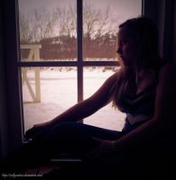 Looking out into the cold by sallymalene