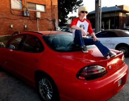 Dave's red sports car by artfulImpersonator